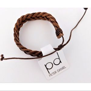 Other - NWT Peter Daniels Men's Brown Leather Bracelet